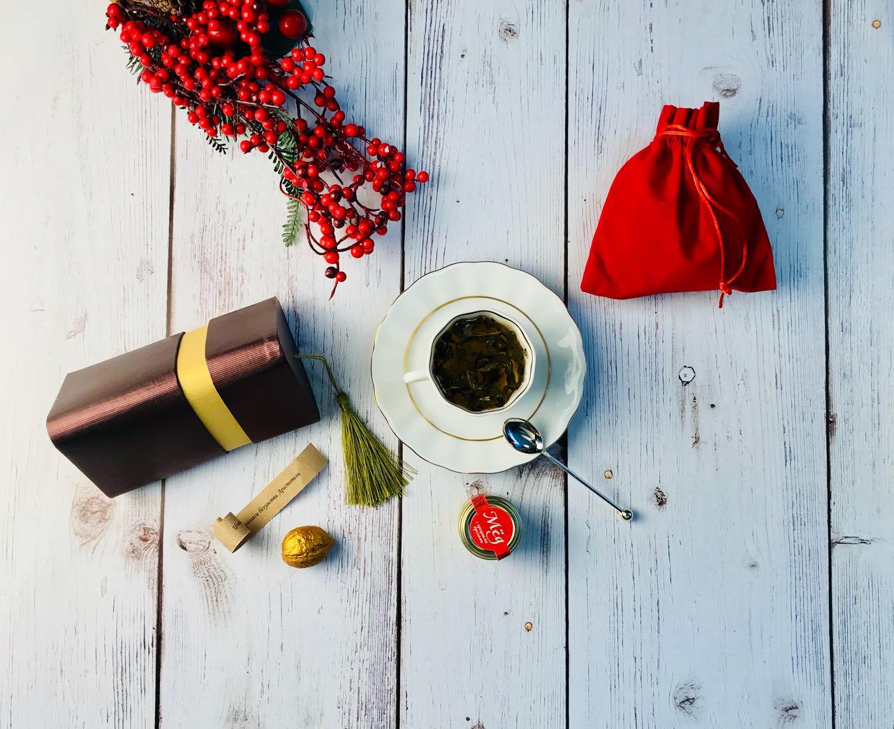 Подарок Три грани с предсказанием и чаем